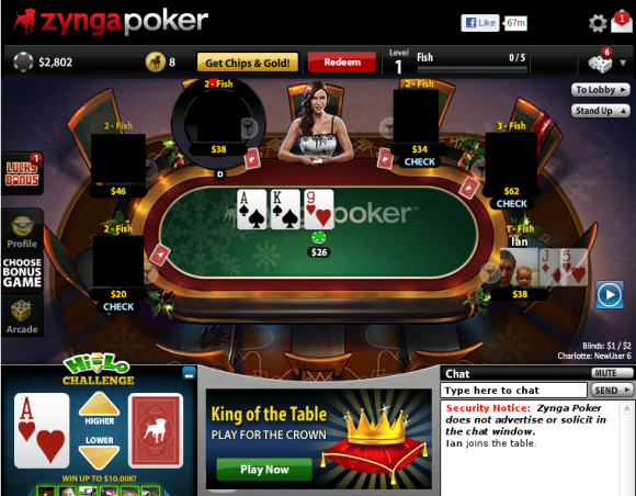 Security notice zynga poker does not advertise or solicit in the chat window how automatic roulette works