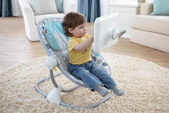 Fisher-Price's iPad seat is under fire from critics.