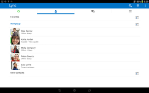 lync for android
