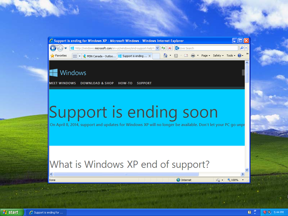 Windows XP: Chronicle of a death foretold