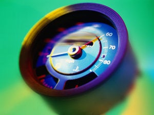 close up of a speedometer unit 57436662