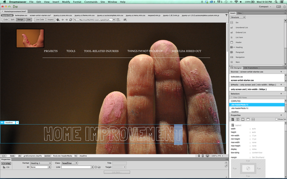 dreamweaver cc 2014 screen liveview mac