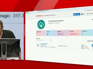 Larry Ellison cloud demo