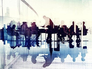 teambuilding group workers table meeting executives