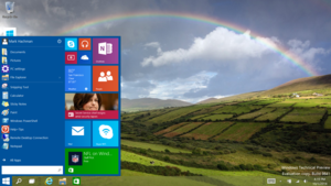 Windows 10 Start menu Microsoft