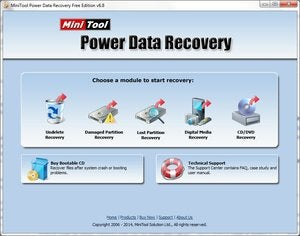 MiniTool Power Data Recovery main screen