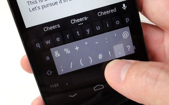 android typing tips shortcut frequently used keys