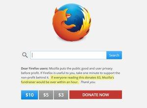 firefox fundraiser