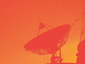 satellite dish red cellular