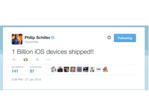 phil schiller says apples shipped one billion ios devices