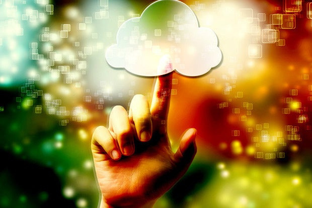 cloud computing finger touch