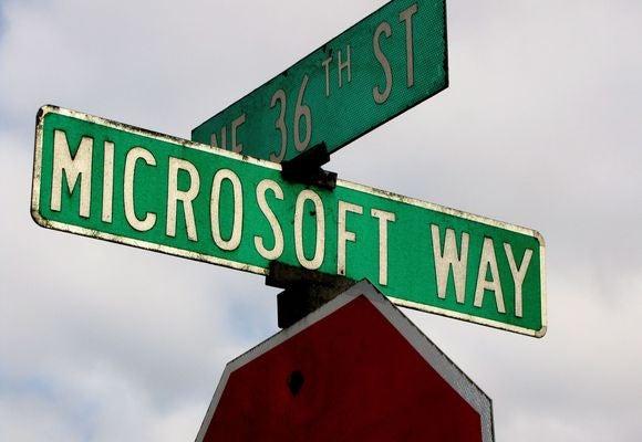 microsoft way sign