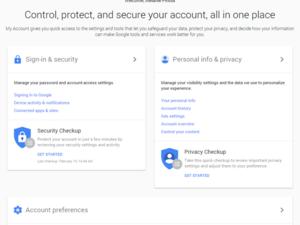google privacy hub