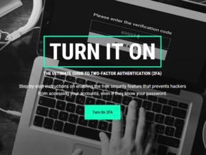 telesign - turn it on - turnon2fa