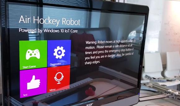 windows iot air hockey robot
