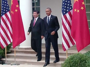 Presidents Obama and Xi news conference
