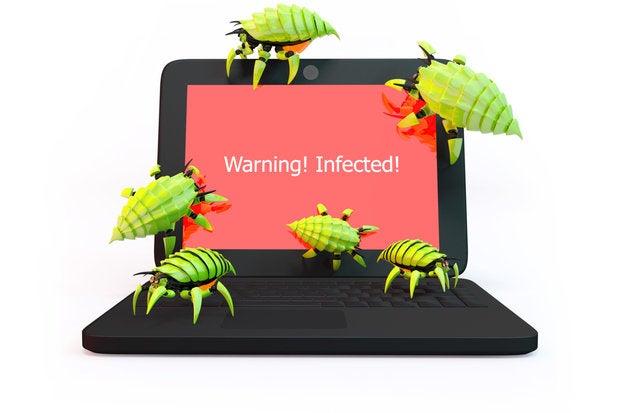 bug malware infected virus