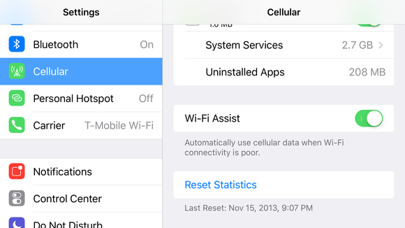 wi fi assist setting
