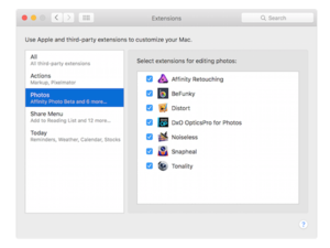 available now 6 great photos extensions for el capitan