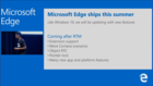Extensions for Microsoft's Edge browser pushed back to 2016