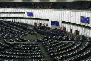 Interior of the European Parliament,  Strasbourg