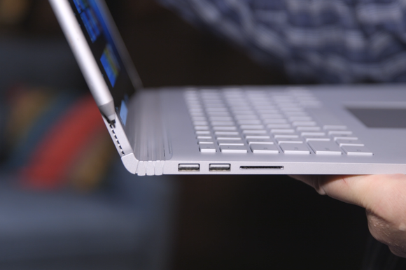 microsoft surface book detail left side ports surface pen