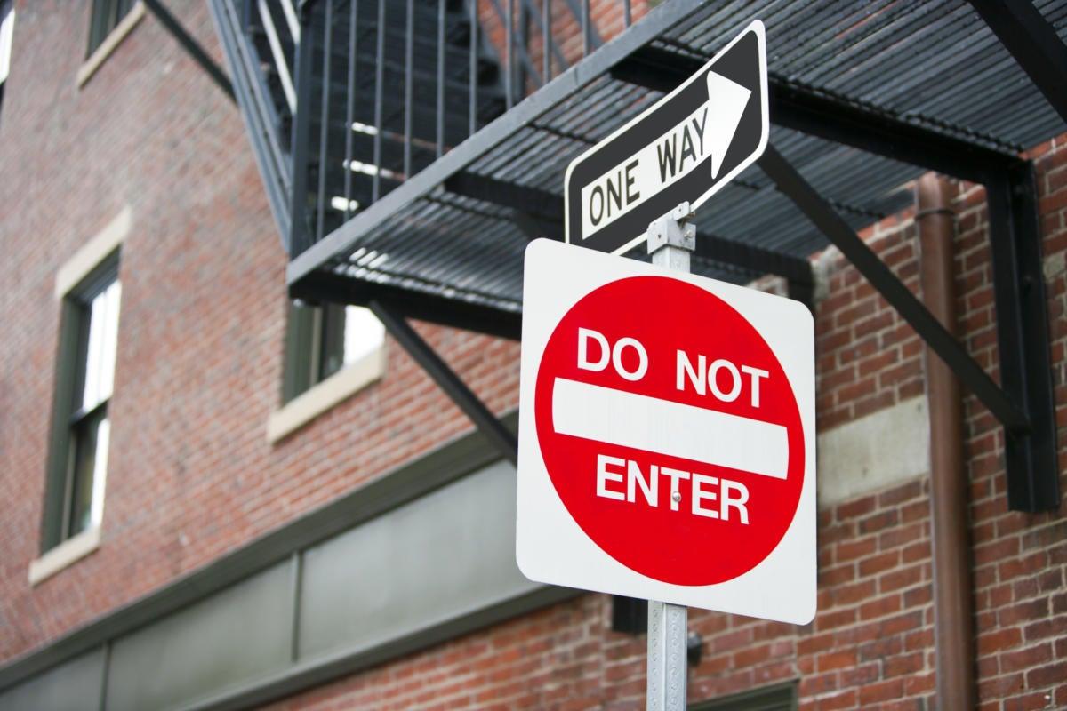 do not enter thinkstockphotos 176640626