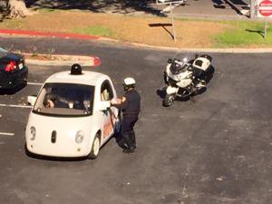 google car pulled over