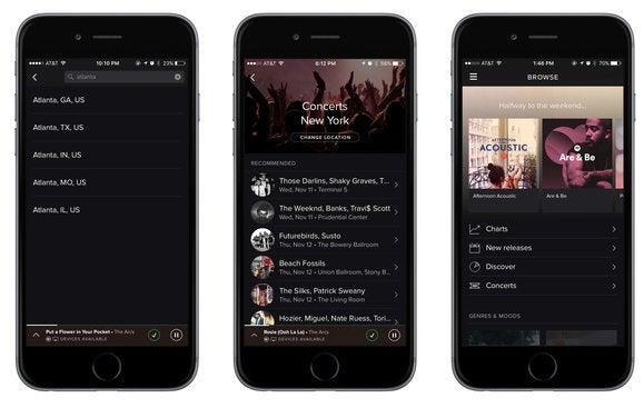 spotify concert songkick mobile