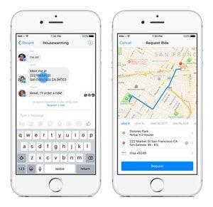 facebook messenger uber ios