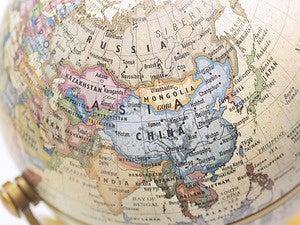 asia globe geopolitical
