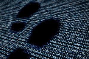 digital footprint stock image