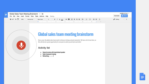 Google Docs now lets you dictate formatting edits