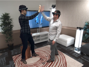 Shahram Izadi HoloLens high five