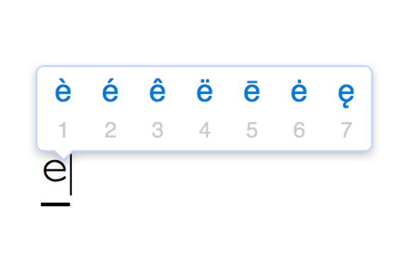 apple keyboard diacritical remarks