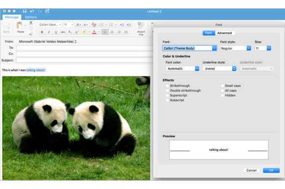 new editor coming to outlook 2016 for mac 3b
