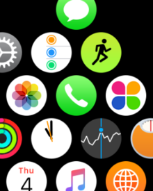 apple watch honeycomb interface