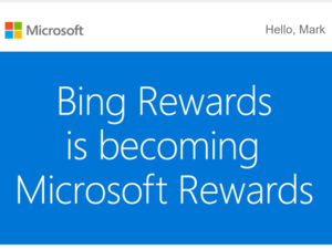bing rewards microsoft rewards