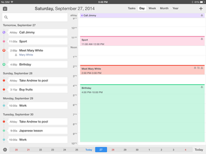 ipad calendars large