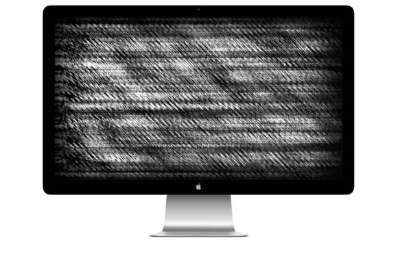apple thunderbolt display static