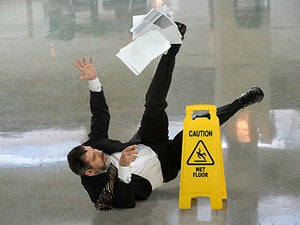 wet floor accident slip