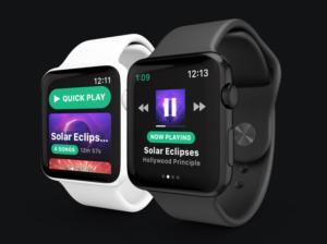 snowy spotify apple watch app