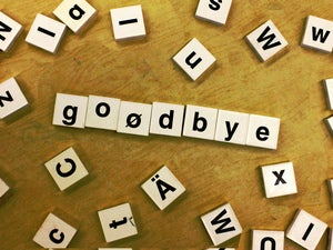goodbye scrabble letters tiles